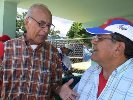 Luis Perdomo rememora la época romántica del deporte trujillano al lado de Temístocles Cabezas