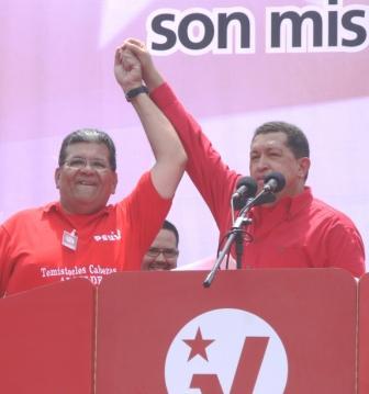 Comandante Hugo Chávez y Temístocles Cabezas